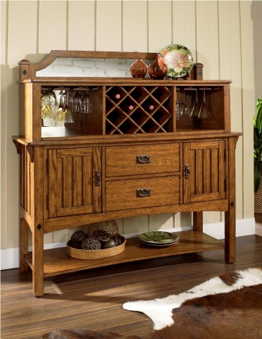 Craftsman Server with Hutch