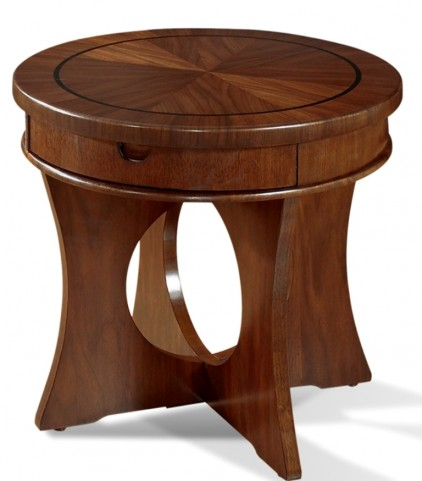 Manhattan Brown Walnut End Table