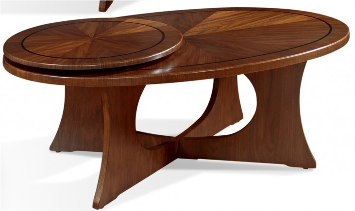 Manhattan Brown Walnut Cocktail Table