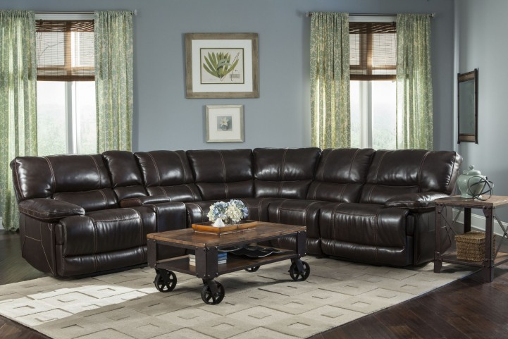 Socrates Mink Reclining Sectional
