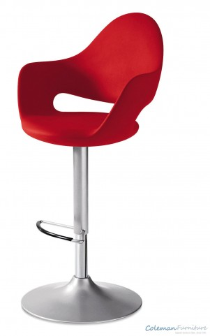 Soft Red Swivel Stool