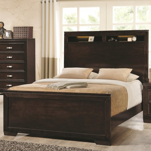 Solano Cappuccino King Panel Bed