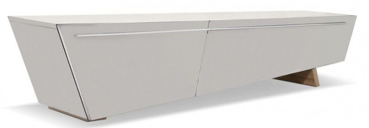 Sophia Light Gray Gloss TV Stand