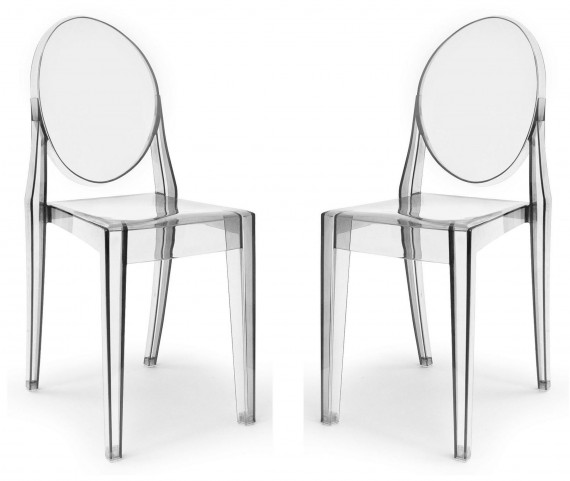 Euro Home Specter Clear Polycarbonate Side Chair Set of 2