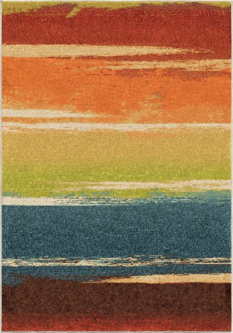 Brushed Stripe Multi Medium Rug