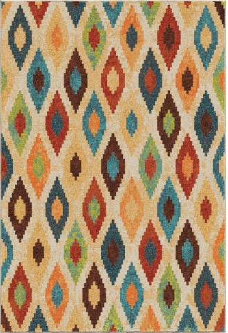 Orian Rugs Bright Color Diamonds Larkin Multi Area Small Rug