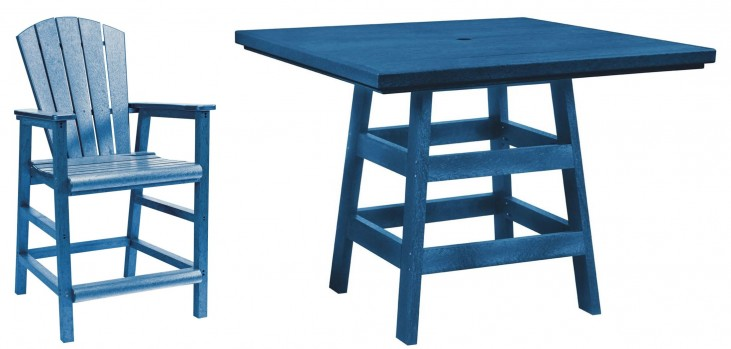 "Generation Blue 42"" Square Pub Set"