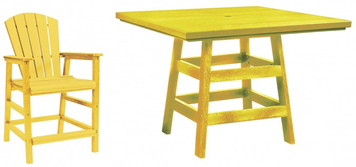 "Generation Yellow 42"" Square Pub Set"