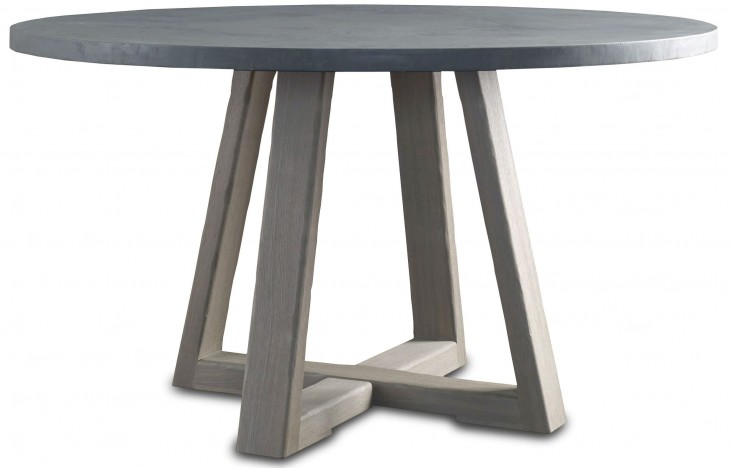 Saratoga Driftwood Round Dining Table