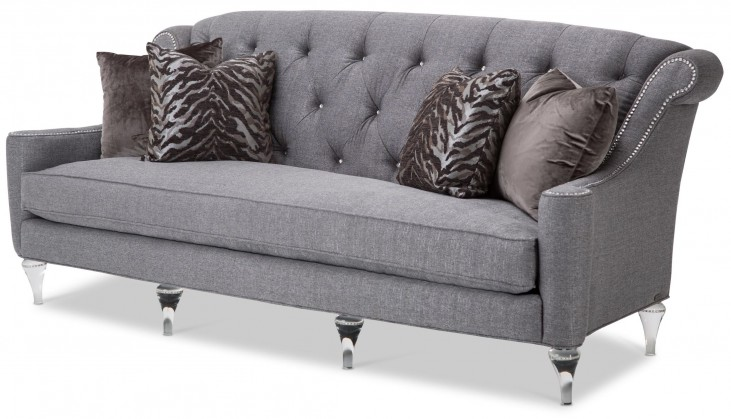 Studio Adele Gray Tufted Sofa