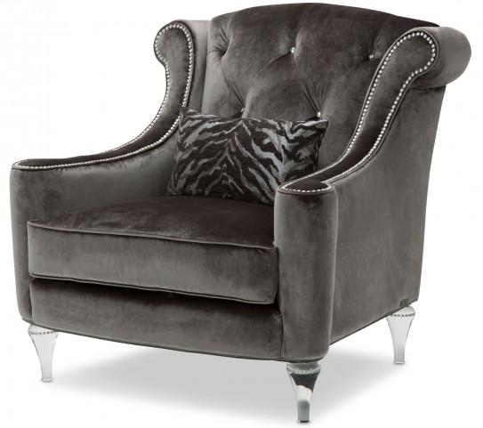 Studio Adele Gray Tufted Chair