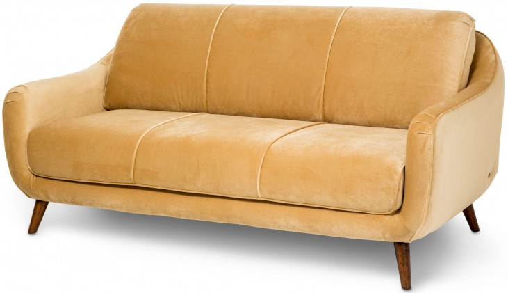Studio Brussels Gold Upholstered Sofa