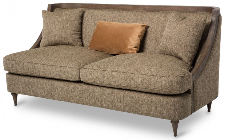 Studio Dallas Haze Wood Trim Sofa