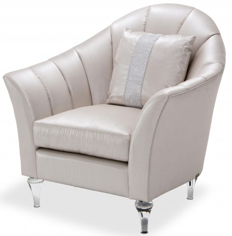 Studio Maritza Gray Channel Back Chair
