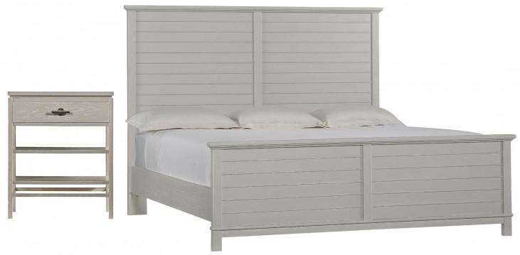 Coastal Living Resort Morning Fog Cape Comber Panel Bedroom Set