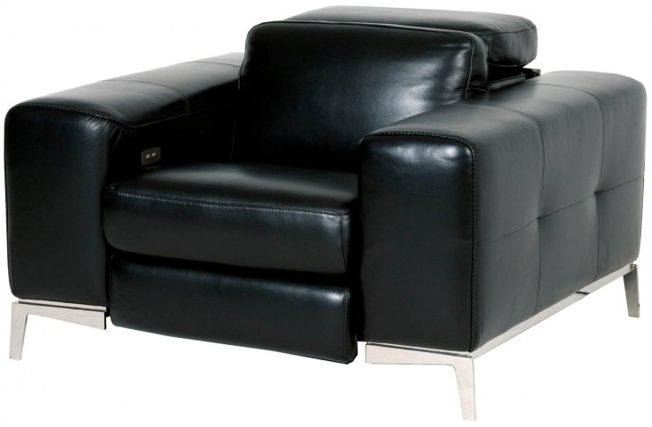 Peninsula Black Leather Strada Sofa Chair