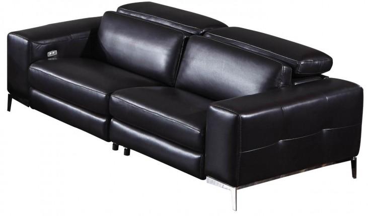 Peninsula Black Leather Strada Sofa