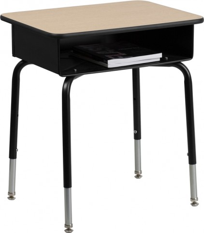 Open Front Metal Book Box Student Desk