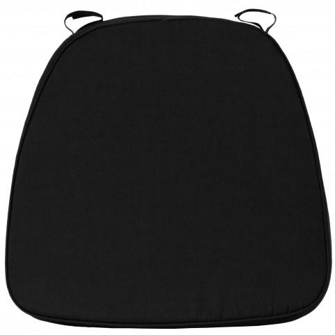 Soft Black Fabric Chiavari Cushion for Wood Chiavari Bar Stools
