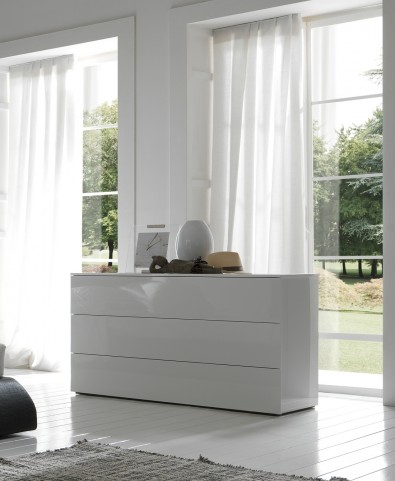 Fun Dresser Glossy White Lacquered