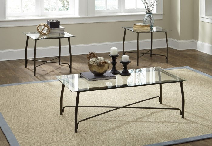 Burmesque Bronze 3 Piece Occasional Table Set