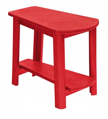 Generations Red Tapered Accent Table
