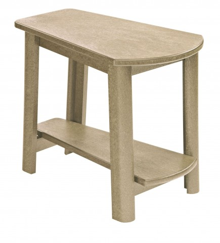 Generations Beige Tapered Accent Table