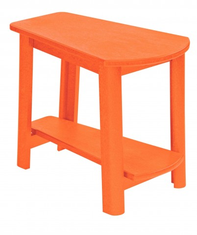 Generations Orange Tapered Accent Table