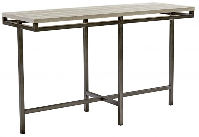East Park Gunmetal Sofa Table
