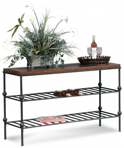Bentley Tobacco and Pewter Console Table