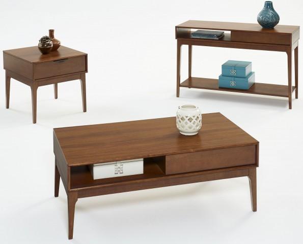 Mid-Mod Cinnamon Occasional Table Set