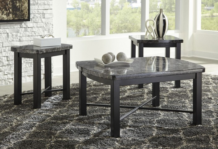 Otterton Black and Gray 3 Piece Occasional Table Set