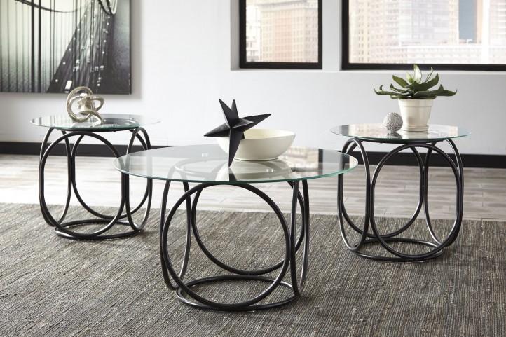 Quassey Black Occasional Table Set