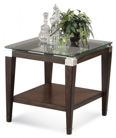 Dunhill Cappuccino Rectangular End Table