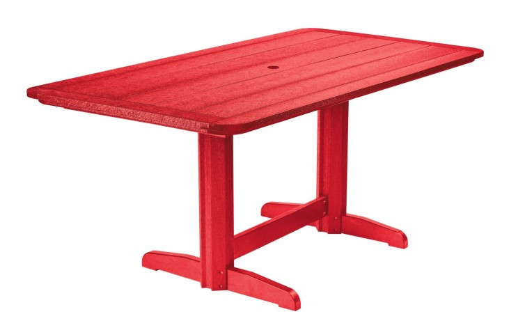 "Generations Red 36"" Double Pedestal Dining Table"