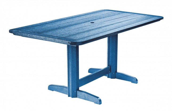 "Generations Blue 36"" Double Pedestal Dining Table"