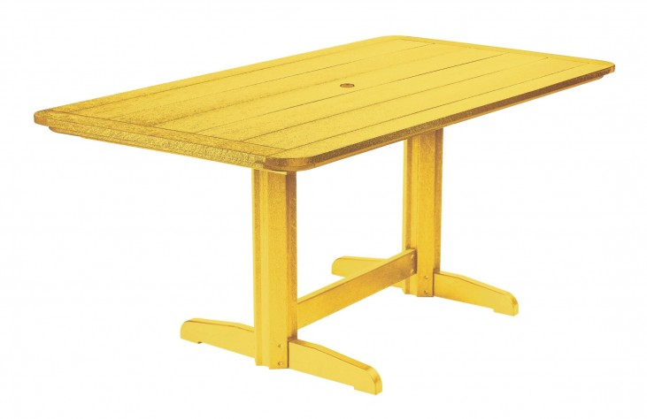"Generations Yellow 36"" Double Pedestal Dining Table"