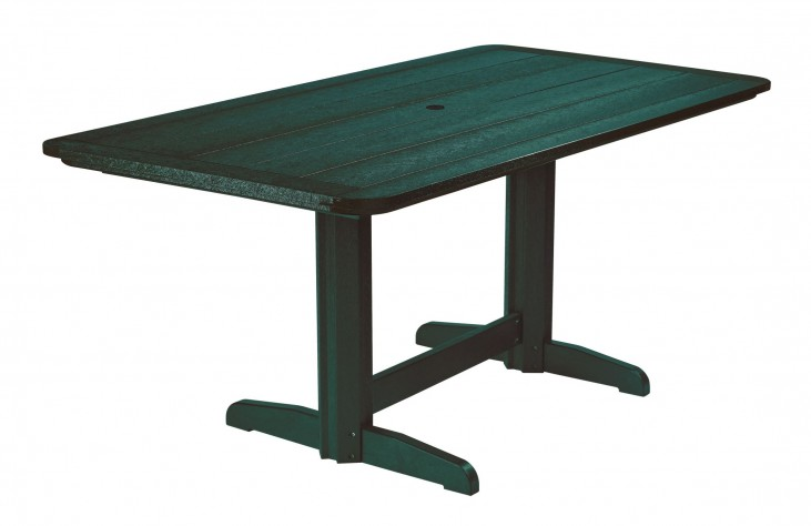 "Generations Green 36"" Double Pedestal Dining Table"
