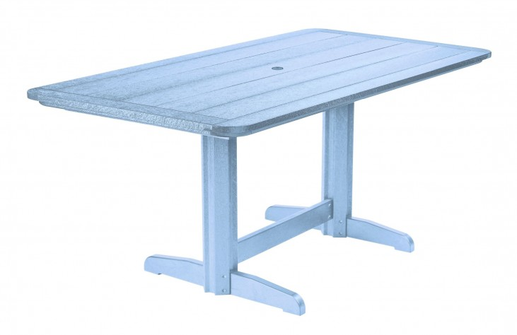 "Generations Sky Blue 36"" Double Pedestal Dining Table"