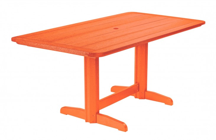 "Generations Orange 36"" Double Pedestal Dining Table"