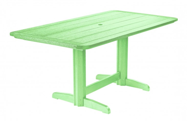 "Generations Lime Green 36"" Double Pedestal Dining Table"
