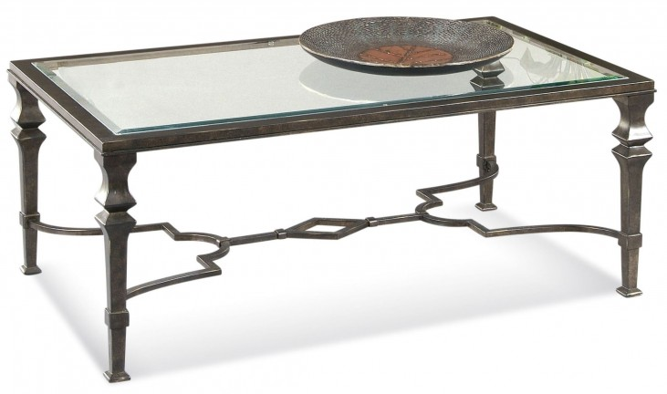 Lido Burnished Bronze Rectangular Cocktail Table
