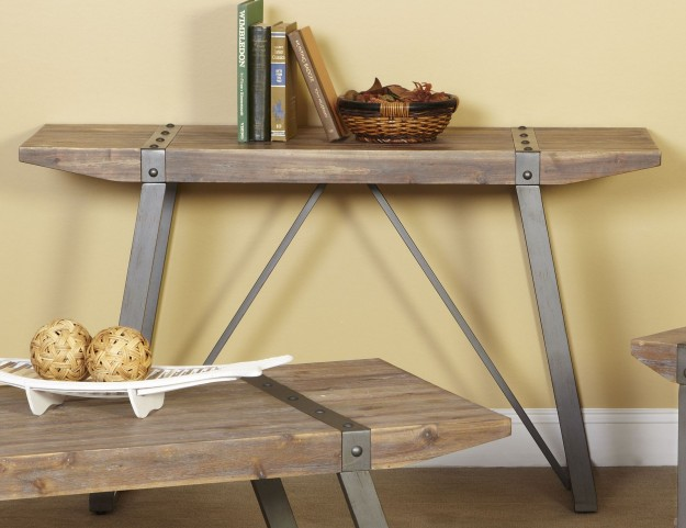 Mandolin Bay Washed Beach Sofa Table
