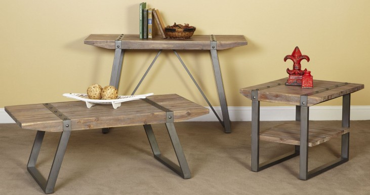 Mandolin Bay Washed Beach Occasional Table Set