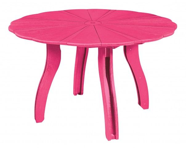 "Generations Fuschia 52"" Scalloped Round Dining Table"