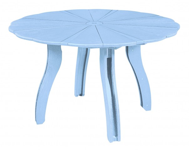 "Generations Sky Blue 52"" Scalloped Round Dining Table"