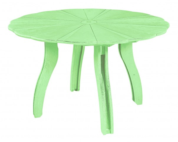 "Generations Lime Green 52"" Scalloped Round Dining Table"