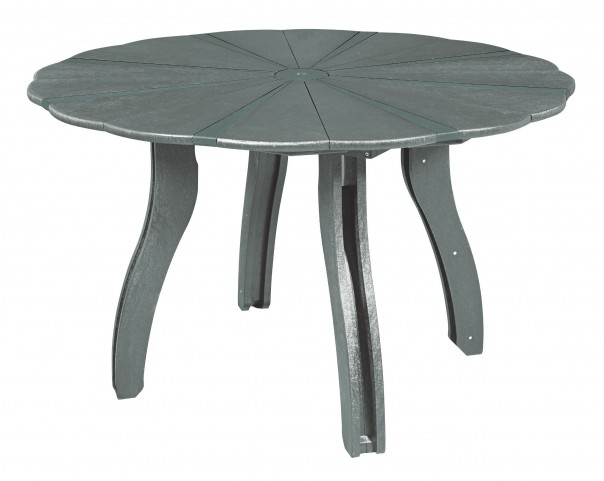 "Generations Slate 52"" Scalloped Round Dining Table"