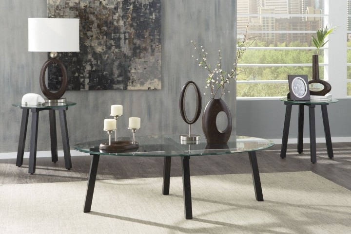 Iselle Black 3 Piece Occasional Table Set
