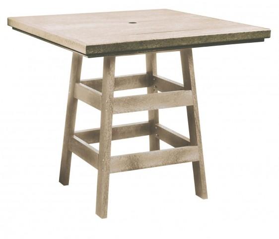 "Generation Beige 42"" Square Pub Table"